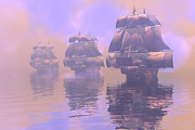Waterscape Digital Art - Enveloped by fog by Claude McCoy