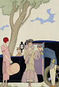 Stylish Car Framed Prints - Envy Framed Print by Georges Barbier