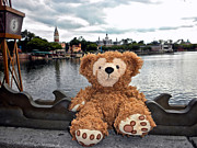 Walt Disney World Photographs Posters - Epcot Bear Poster by Thomas Woolworth