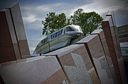 Silver Pyrography - Epcot - Monorail Silver by AK Photography