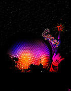 Stary Framed Prints - Epcot night Framed Print by David Lee Thompson