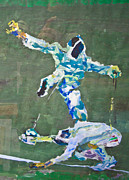 Fencing Paintings - Epee fencing match by Godfrey McDonnell