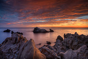 Southern California Prints - Epic California Sunset Print by Marco Crupi