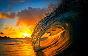 Wave Art Prints - Epic Sunrise Print by Gregg  Daniels