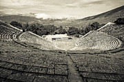 Byzantine Prints - Epidavros Theatre Print by David Waldo