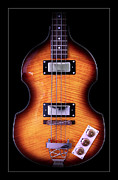 Bass Bridge Prints - Epiphone Viola Bass Guitar Print by John Cardamone