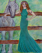 St. Patrick Paintings - Epona...Celtic Goddess Of Horses by The Art With A Heart By Charlotte Phillips