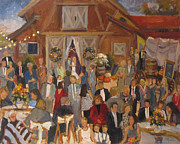 Wedding Reception Paintings - Eppley-Lubert Wedding Reception by Barbara Davis