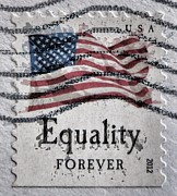 Declaration Of Independence Digital Art Posters - Equality Forever Poster by Patricia Januszkiewicz