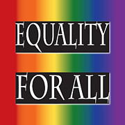 Imagination Posters - Equality Rainbow Poster by Jamie Lynn