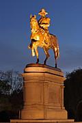 Juergen Roth - Equestrian Bronze Statue of George Washington