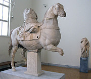Greek Sculpture Prints - Equestrian officer Print by Andonis Katanos