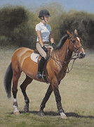 Horse Jumping Paintings - Equestrian Portrait by Terry Guyer