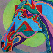 Filly Paintings - Equine Shapes - In and Out III by Robyn Ryan