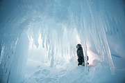 Erebus Photos - Erebus Glacier Ice Cave by Alasdair Turner