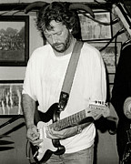 Slowhand Framed Prints - Eric Clapton 1988 Framed Print by Chuck Spang