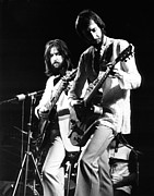 Clapton Photos - Eric Clapton and Pete Townshend  by Chris Walter