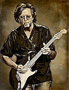 Rock And Roll Digital Art Originals - Eric Clapton by Andrzej  Szczerski