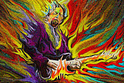 Rock And Roll Digital Art Originals - Eric Clapton by Glenn Cotler