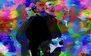 Hall Of Fame Digital Art Prints - Eric Clapton Print by Jack Zulli