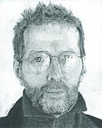 Songwriter Drawings Posters - Eric Clapton Poster by Jeff Ridlen