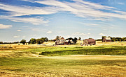 Sport Artist Framed Prints - Erin Hills Framed Print by Scott Pellegrin