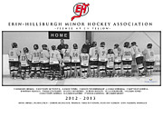 Youth Hockey Prints - Erin-Hillsburgh Peewee Print by Rob Andrus