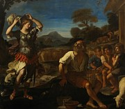 Elderly Female Framed Prints - Erminia and the Shepherds Framed Print by Giovanni Francesco Barbieri