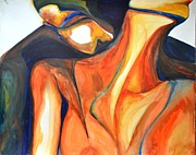 Attachment Paintings - Eros and Psyche by Vivianne Maloney