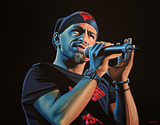 Singer Painting Framed Prints - Eros Ramazzotti Framed Print by Paul  Meijering