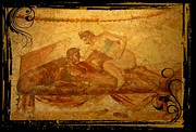 Erotic Art Of Pompeii Print by John Malone Halifax Photographer