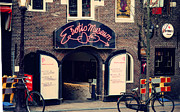 Red Buildings Prints - Erotic Museum. Amsterdam Print by Jenny Rainbow