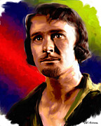 Celebrity Paintings - Errol Flynn by Allen Glass