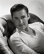 Actress Digital Art Framed Prints - Errol Flynn Framed Print by Sanely Great