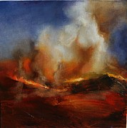 Lissa Bockrath Metal Prints - Eruption Metal Print by Lissa Bockrath