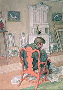 Deep In Thought Paintings - Esbjorn Convalescing by Carl Larsson
