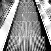 Escalator Prints - Escalator Print by Lin Haring
