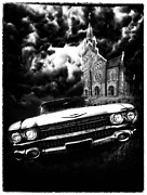 1960 Movies Digital Art Prints - Escape from Chapel Doom Print by Stephen Hooker