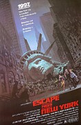 Vintage Movie Posters Art - Escape from New York by Sanely Great