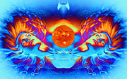 Science Fiction Digital Art Metal Prints - Escape from the Sun Metal Print by Matthew Lacey
