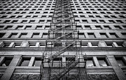 Fire Escape Metal Prints - Escape Metal Print by Scott Norris