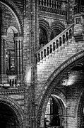 Archways Posters - Escheresq BW Poster by Heather Applegate