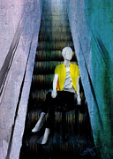 Escalator Painting Prints - Escolate Print by Robert Smith