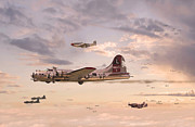 P51 Mustang Art - Escort Service by Pat Speirs