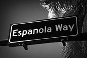 Espanola Framed Prints - Espanola Way Street Sign Sobe Miami South Beach Florida Usa Framed Print by Joe Fox