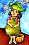 Pear Tree Mixed Media - Esperancita - Hope - Art by Karina Gomez by Laura and Karina Gomez