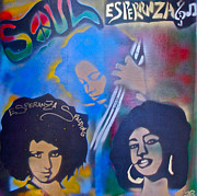 Tony B. Conscious Paintings - Esperanza SPALDING 2 by Tony B Conscious