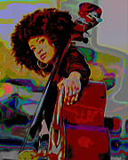 Tradigital Art Prints - Esperanza Spalding Print by Byron Fli Walker