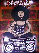 Billie Painting Originals - Esperanza Spalding by Tony B Conscious