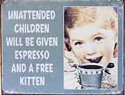 Steven Ralser - espresso and kitten sign
